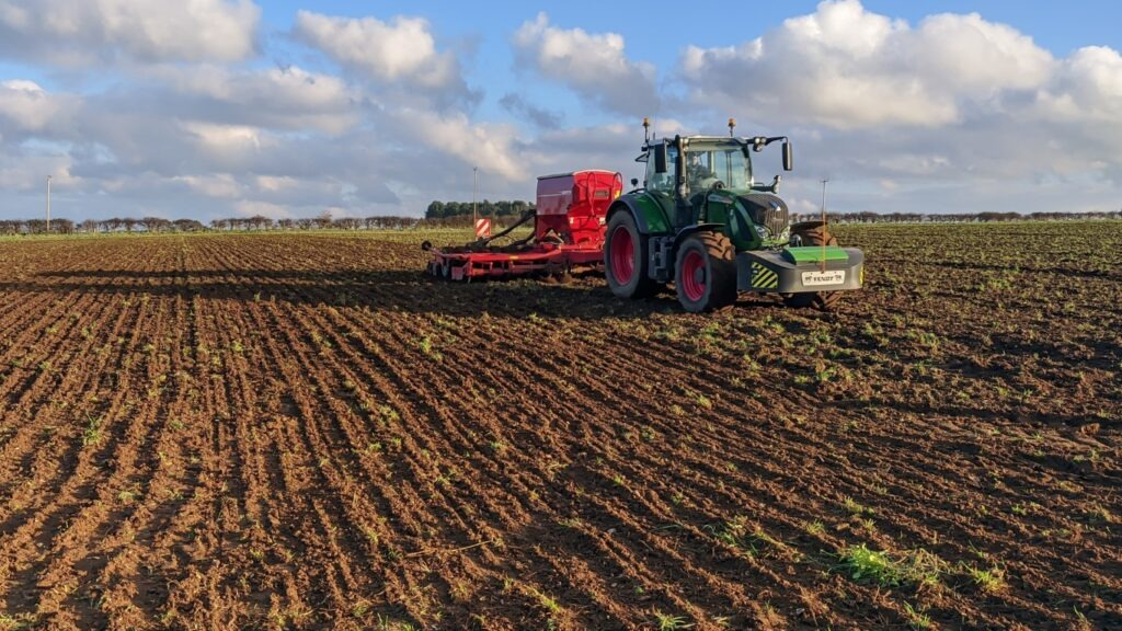 Drilling our first organic wheat crop